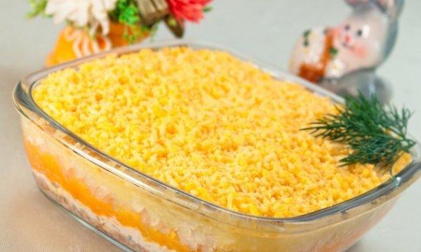 Салат мимоза Скрипкина Анастасия рецепт с фото