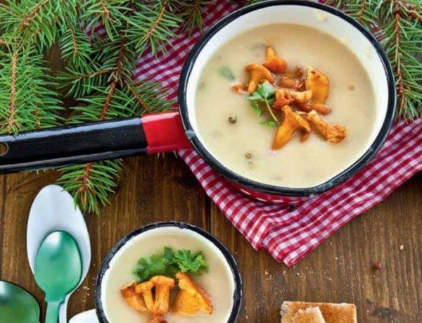 Рецепт крем супа с лисичками