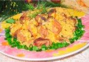 рецепт Пшеничная каша с куриными желудками