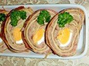 рецепт Роллы из блинчиков с мясной начинкой