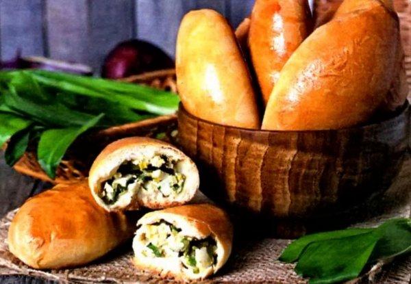 пирожки в духовке с яйцом и луком рецепт с фото