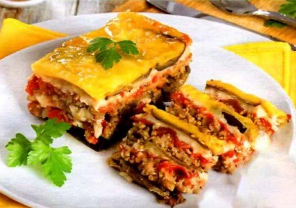 мусака по-гречески с баклажанами без мяса рецепт с фото