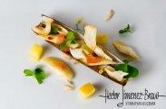 рецепт Моллюски Морской черенок с луком и миндалем