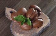 рецепт Шоколадные яйца со сгущенкой