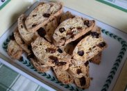 рецепт Бискотти с орехами и изюмом