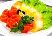 рецепт Оформление рыбы на тарелке