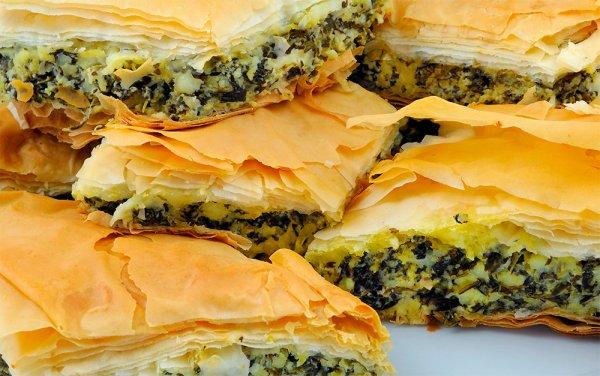 Слоеный греческий пирог с кремом #6