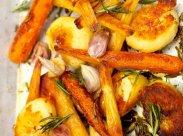 рецепт Запеченный картофель с овощами от Джейми Оливер