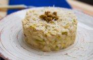 рецепт Ризотто с яблоками, орехами и луком порей