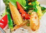 рецепт Фрунчоза с овощами в ореховом соусе