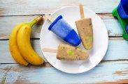 рецепт Банановое мороженое с кусочками киви
