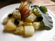 рецепт Жареная капуста кольраби с картошкой