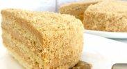 рецепт Торт с творожно-карамельной начинкой