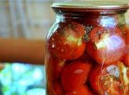 рецепт Половинки помидоров в маринаде