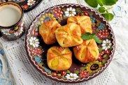 рецепт Печенье конвертики с пудингом