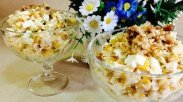 рецепт Салат с кукурузой и яйцом
