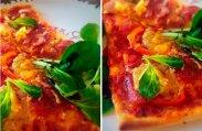 рецепт Пицца с салями, красным луком и сладким перцем