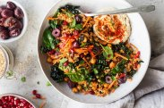 Салат с морковью и нутом