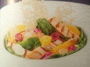 рецепт Салат из курицы с апельсинами