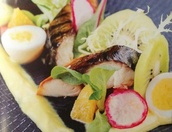 Салат с копченой скумбрией от Эктора рецепт с фото