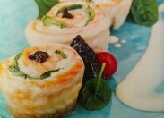 рецепт Запеченные роллы из лосося