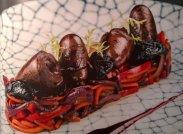 рецепт Утиные сердечки с черносливом