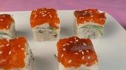 рецепт Суши торт филадельфия в домашних условиях